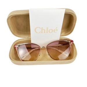 Chloé Felicy Cat-Eye Metal Sunglasses